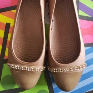 Crocs flat for Women - Bronze - Size 10